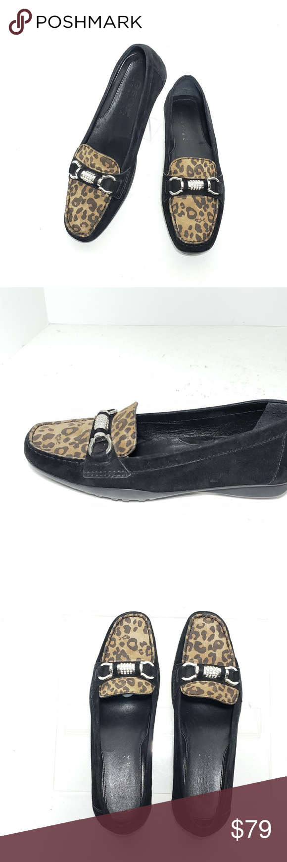 leopard driving loafers