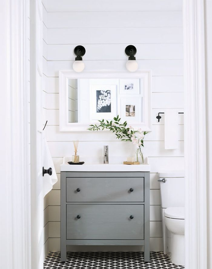 ikea hemnes bathroom vanity plumbing combination drawers installation review