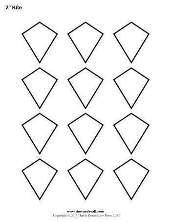 Kite Templates - 2 Inch - Tim\u0027s Printables millefiori Pinterest