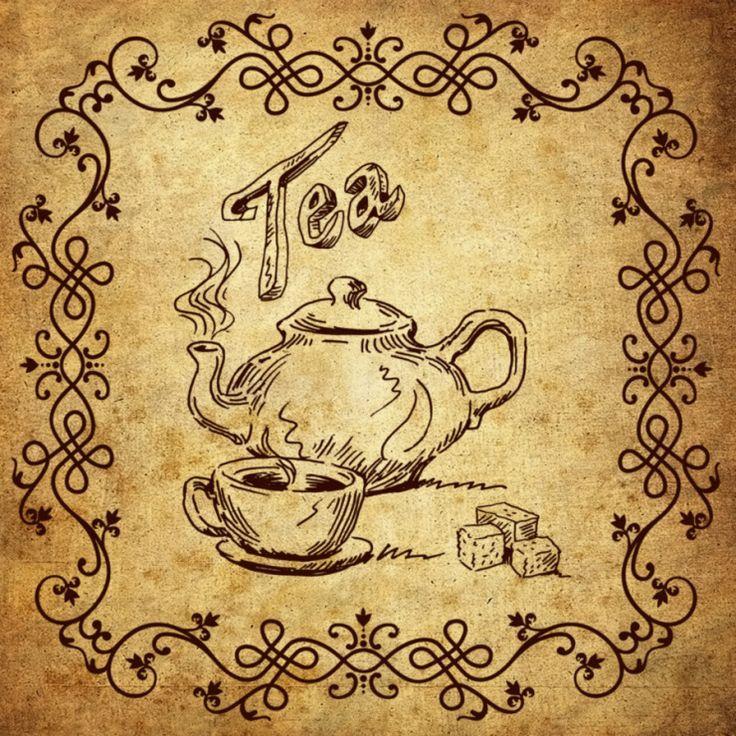 Картинки по запросу надпись время пить чай   Декупаж ...