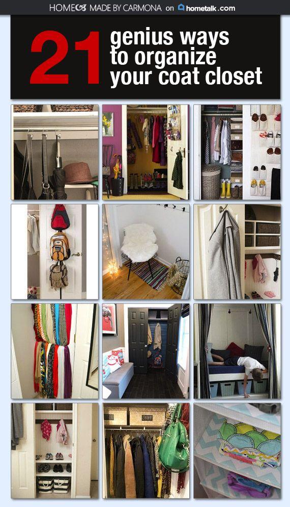 Genius Ways To Organize Your Coat Closet Coat Closet Organization Coat Closet Closet Organization