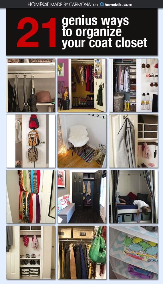 Genius Ways To Organize Your Coat Closet Coat Closet Coat