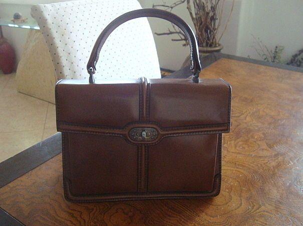 Vintage 1960s Brown Leather Handbag from Shillito's Dept Store #ShillitosDeptStoreNowclosed #Box..$49.99
