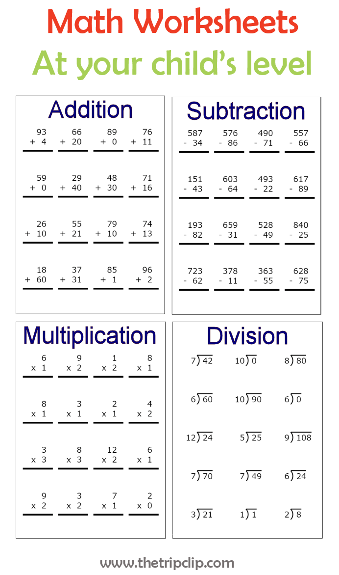Unlimited Math Worksheets At Every Level Right Start Math Math Worksheets Math