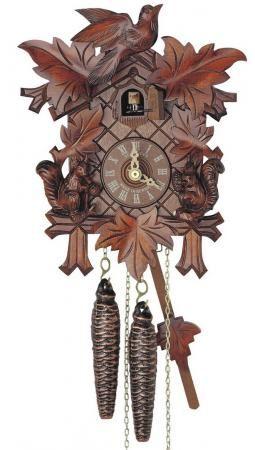 Found It At Clockway Com 14in Carved Squirrels Schneider German Black Forest 1 Day Cuckoo Clock Nsc3626 Cuckoo Clock Clock Cuckoo