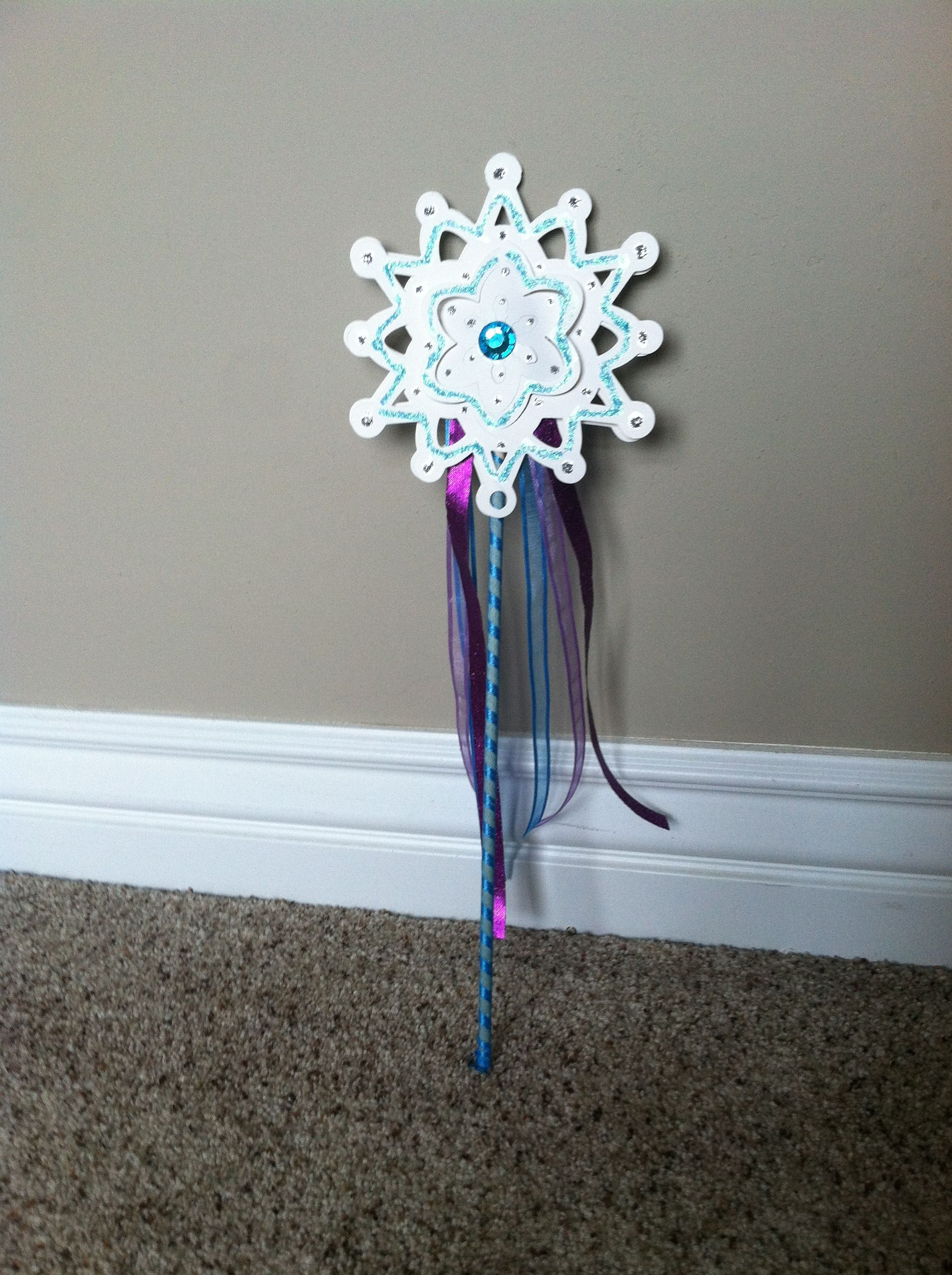 I Used Paper Snowflake Ornaments, Glitter Glue, Craft Rhinestones,