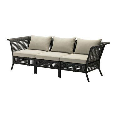 IKEA HÅLLÖu0026 Sofa, Outdoor Black Brownu0026 Cm By Combining Different Seating  Sections You Can Create A Sofa In A Shape And.