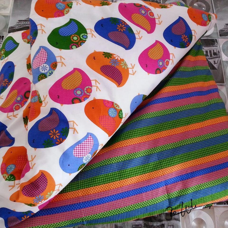 funda nórdica para la cuna estándard (60x120) con telas de #patchwork. duvet cover pathcwork fabric Handmade by RoWuDesign