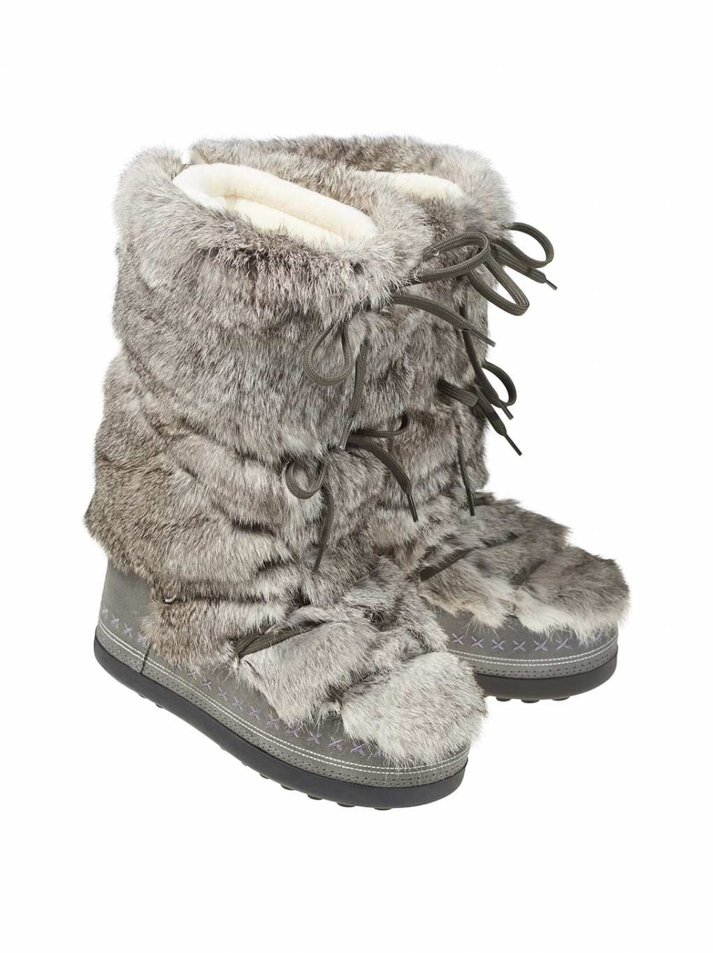 Details about women luxury diamond fashion snow boots rabbit fur boots - Snow Boots Cervinia 24a In Gray For Women Bogner Usa