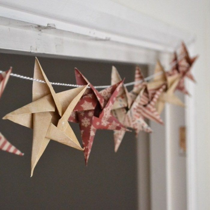 DIY Origami Star garland - Christmas Craft week - Girl about townhouse