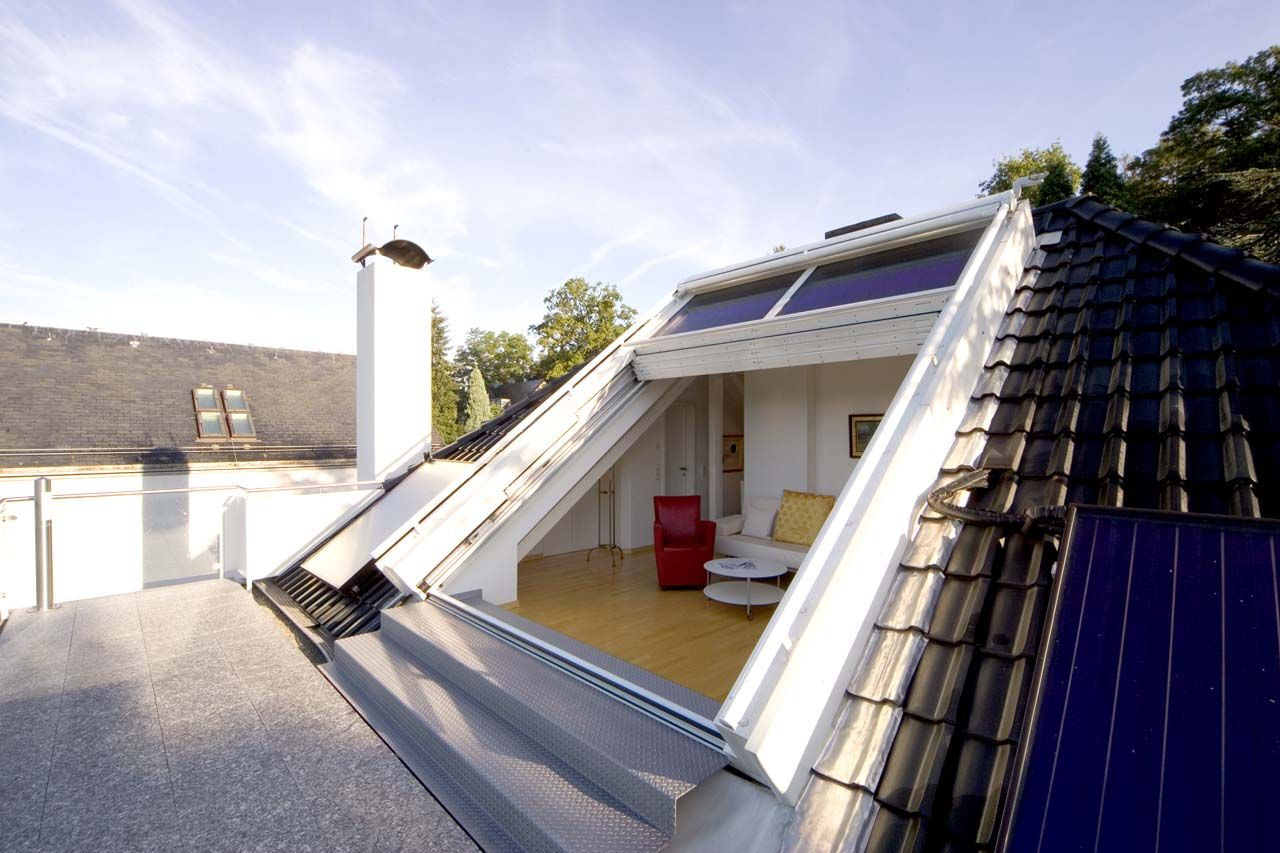 Loft Conversion Open Air Roof Sliding Window Openair 949 3125 Sunshine Wintergarten Galerie Dachschiebefenster Dachfenster Architektur