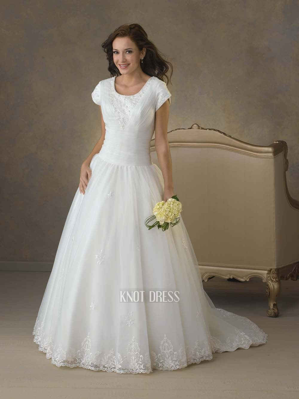 Short Sleeve A Line Wedding Dress - Cute Dresses for A Wedding Check ...