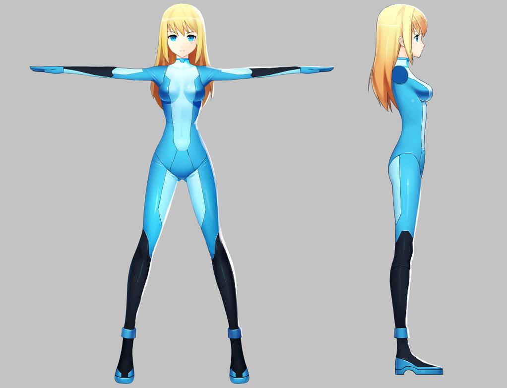 Zero Suit Samus Model Sheet By Worldwithoutwords On Deviantart Character Model Sheet Character Design 3d Model Character