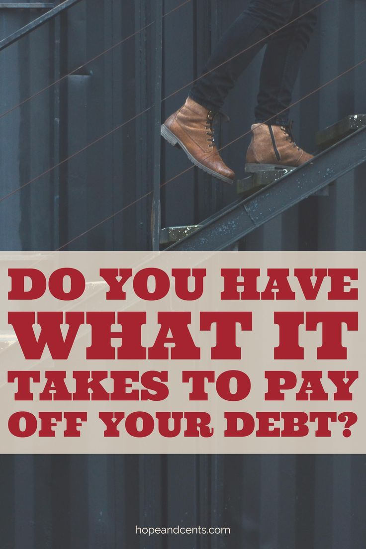 Do you have what it takes to pay off your debt debt