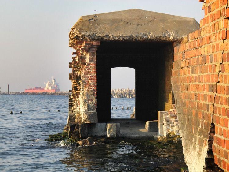Остатки форта на Балтийской косе
