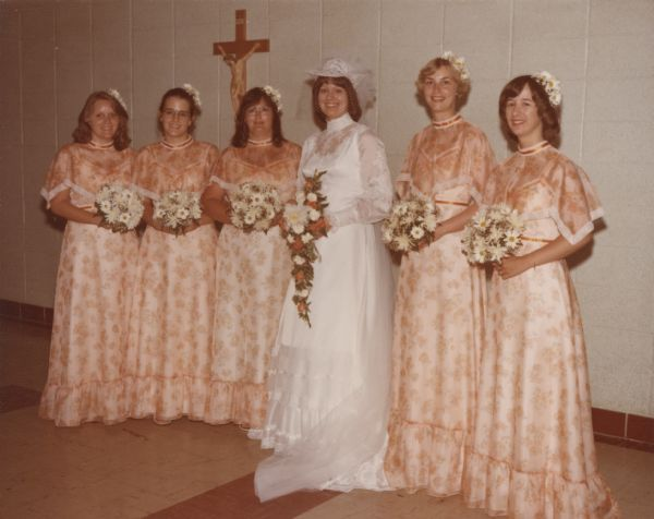 Title: Bride And Bridesmaids St. Andrews Catholic Church