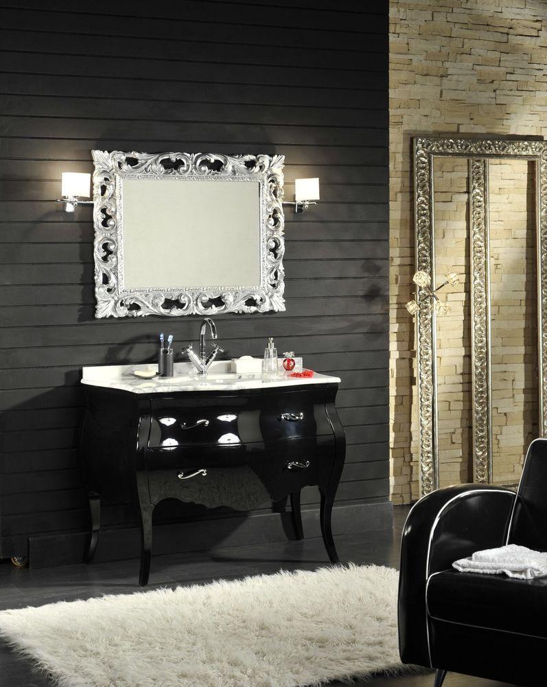 Schwarz Badezimmerschrank Barock Model Lipari Schrank Zimmer Klassische Badmobel Badezimmer Dekor
