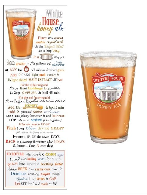 From Mary Lake Thompson The Recipe For White House Honey Ale On A