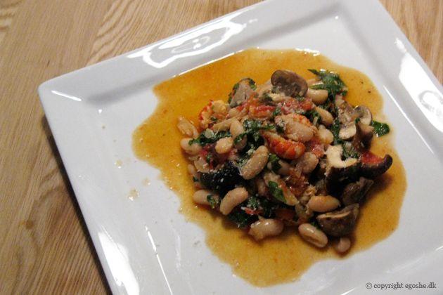 EGOSHE.dk - En madblog med South Beach opskrifter og andet godt...: Bønneret med krebsehaler ala italia