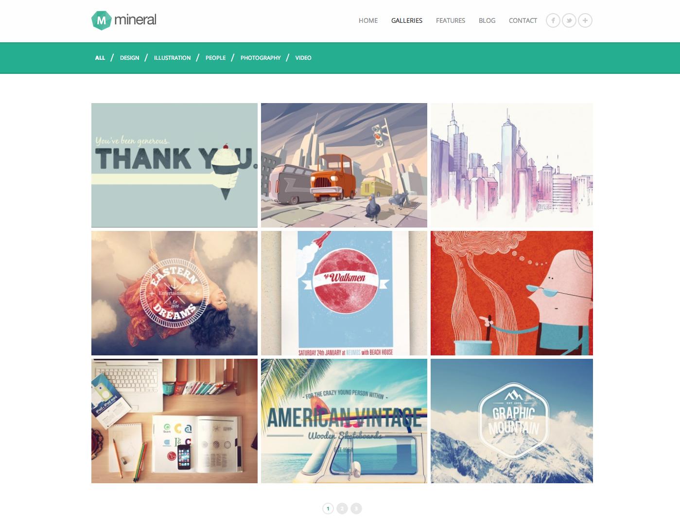 portfolio layout web design modern simple clean