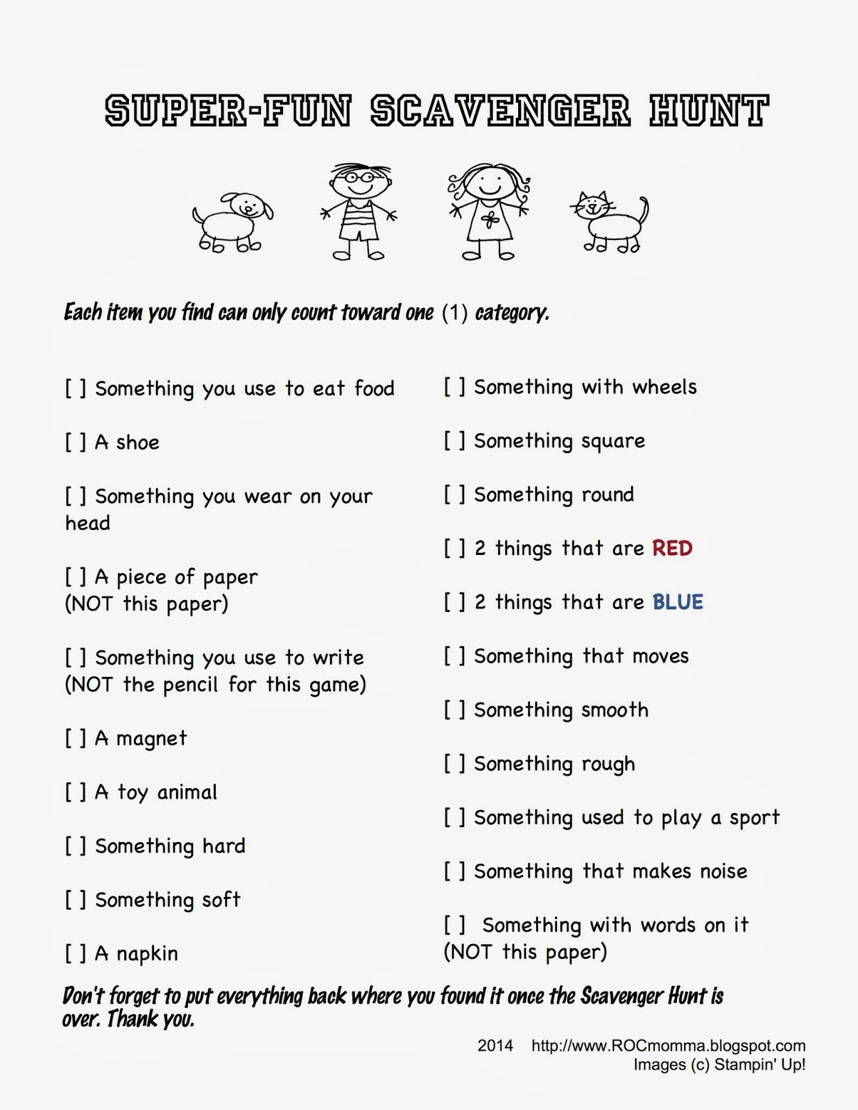 Three Easy No Prep Super Fun Scavenger Hunts By Rocmomma
