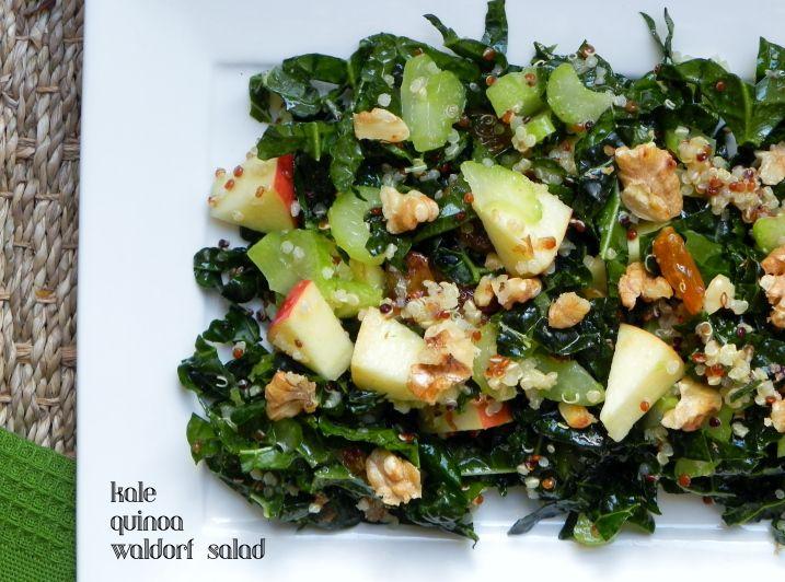 Kale and Quinoa Waldorf Salad | Voracious Vander