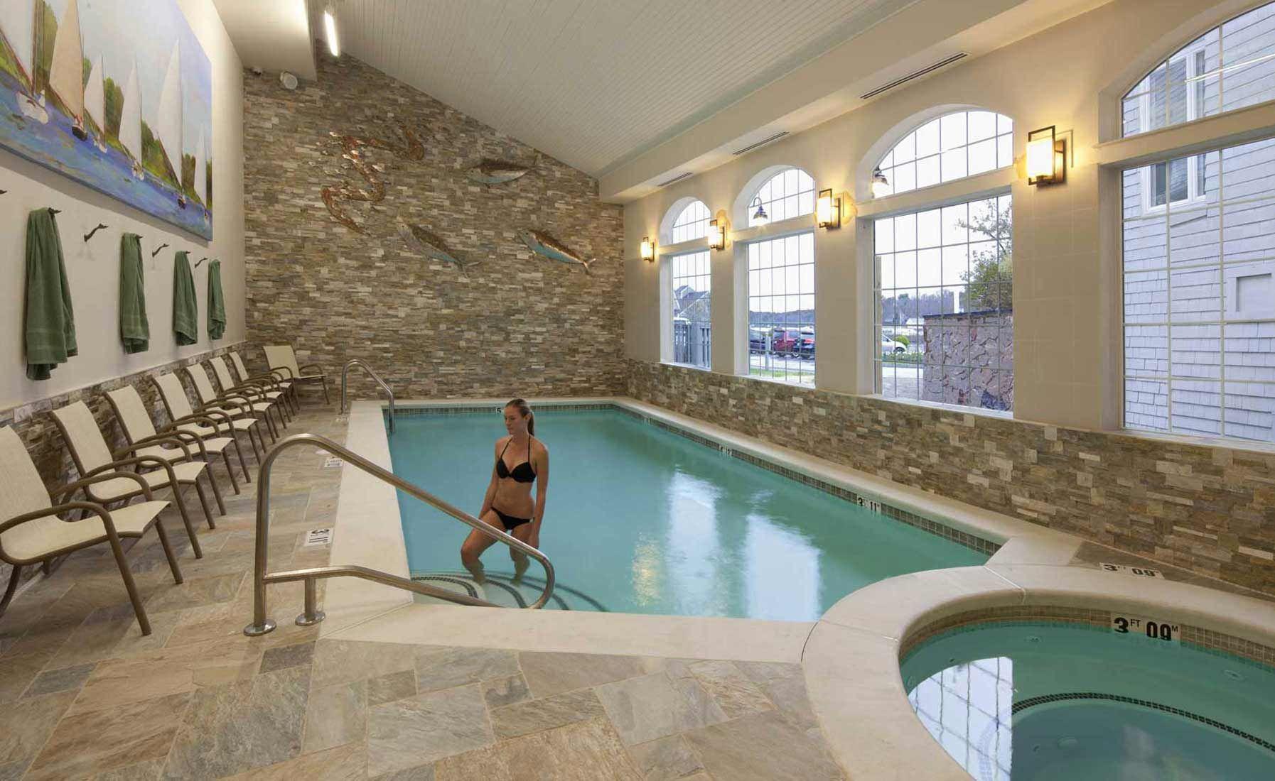 Furniture. Residential Indoor Pool Designs ideas: Comfort Nuance ...