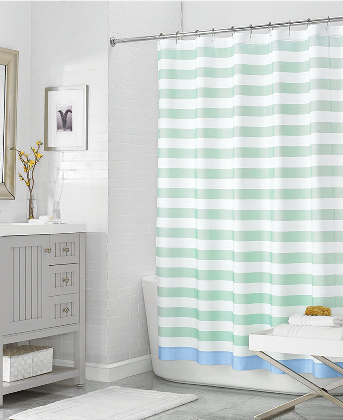 Martha Stewart Collection 72 x 72 Beach House Stripe Shower Curtain ...