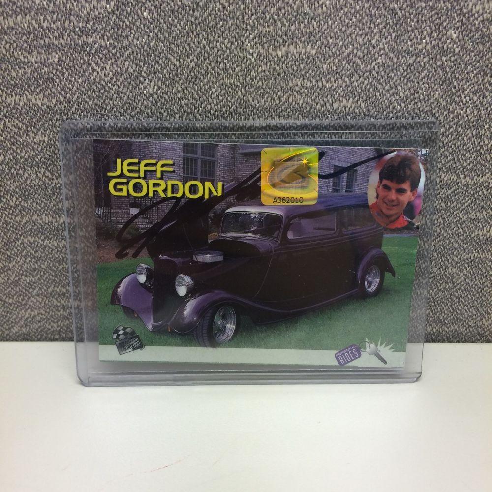 AUTOGRAPHED Jeff Gordon 1995 Personal Rides Trading Card #PressPass #HendrickMotorsports