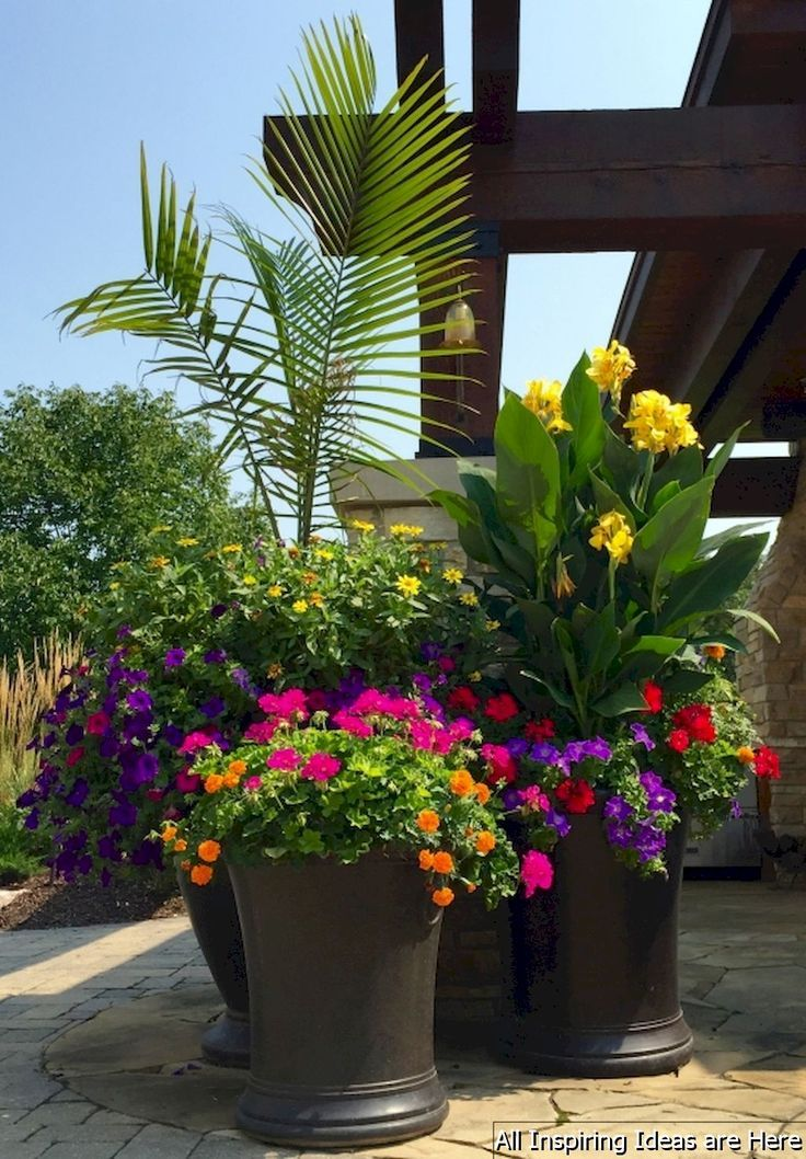 Gorgeous 50 Awesome Summer Container Garden Design Ideas Roomaholic Com Container Gardening Garten Garten Design Container Garten