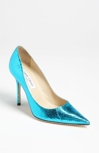 fa9f5ec524a Jimmy Choo  Abel  Pump- such a pretty blue!