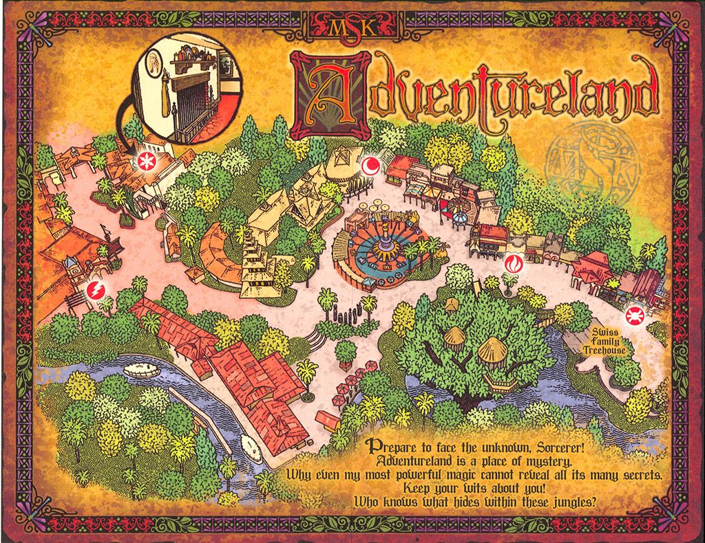 Sorcerors of the Magic Kingdom, Adventureland map | Walt Disney