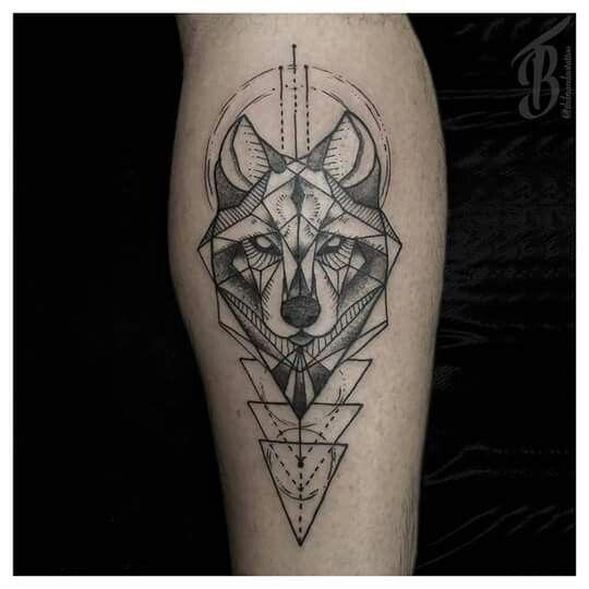 Resultado De Imagem Para Geometric Wolf Tattoo Tattoos