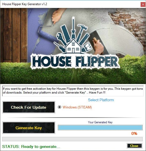 House Flipper Key Generator 2018