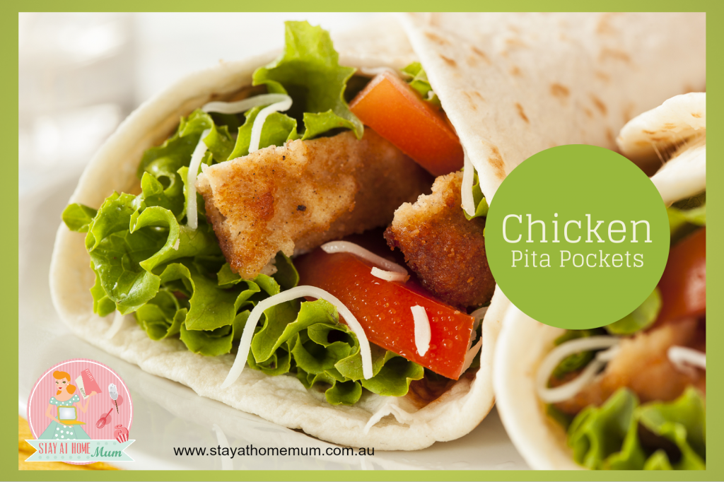 Healthy Chicken Pita Pockets | Stay at Home Mum