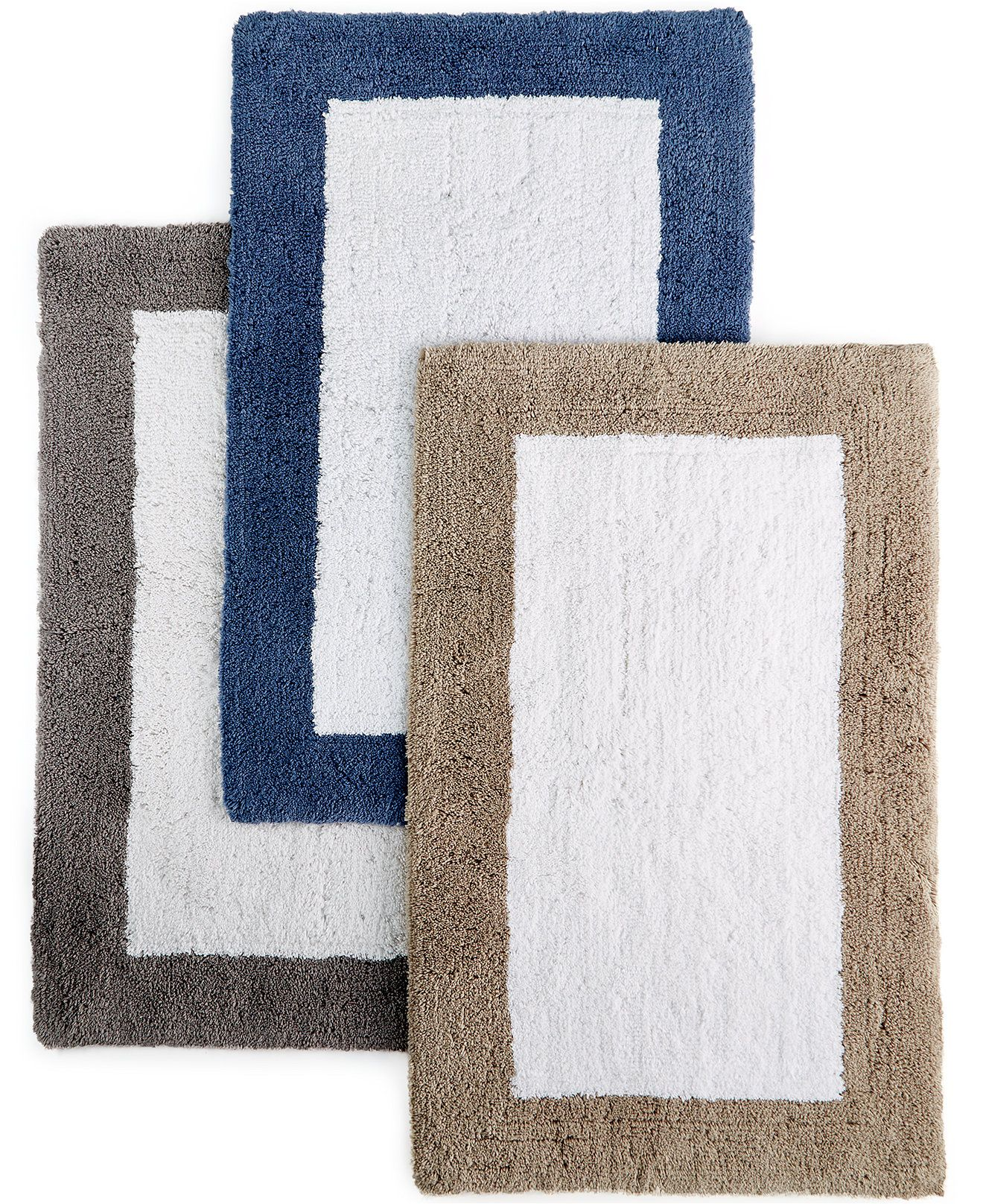 "hotel collection colorblock 30"" x 50"" bath rug, created for macy's"