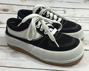 Vintage 90s Express Brand Black White Chunky Sneakers Platform Rave Womens 6 Sneakers Chunky Sneakers 90s Sneakers