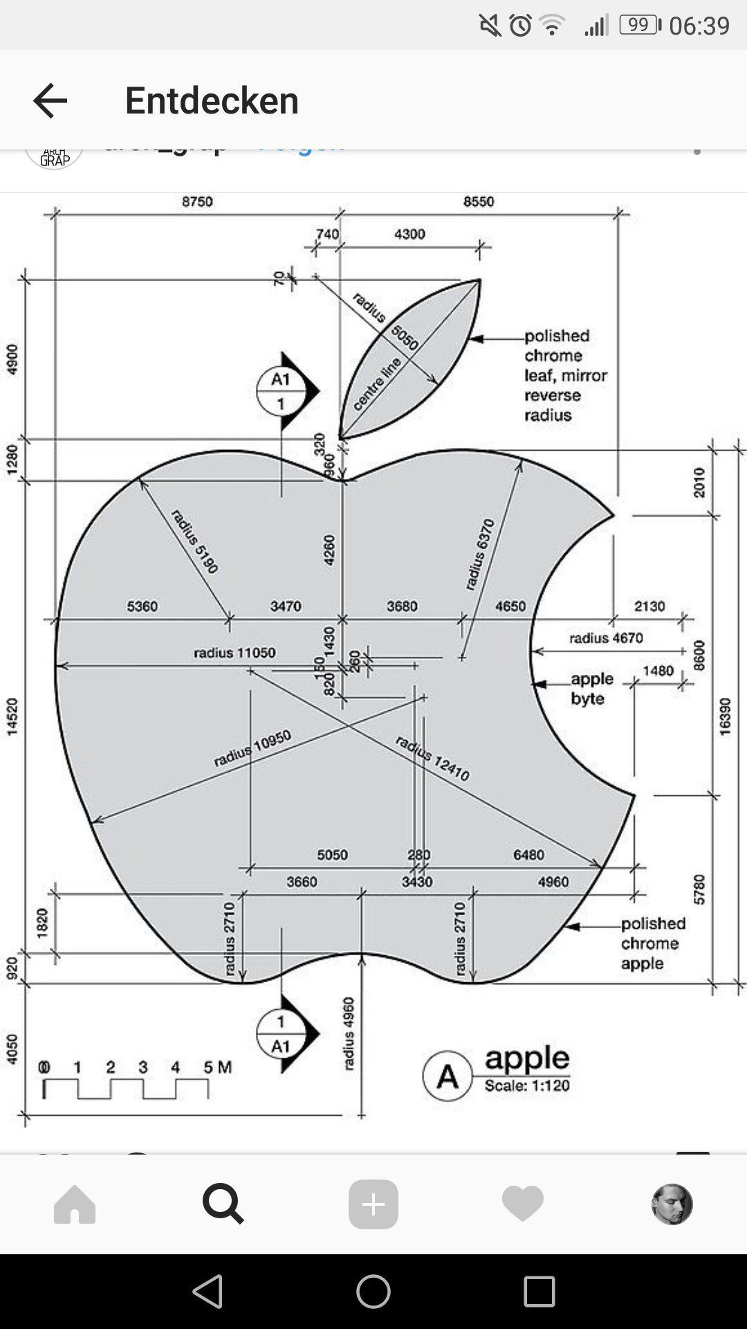guardado por ThePorchLight dimensions of the apple logo
