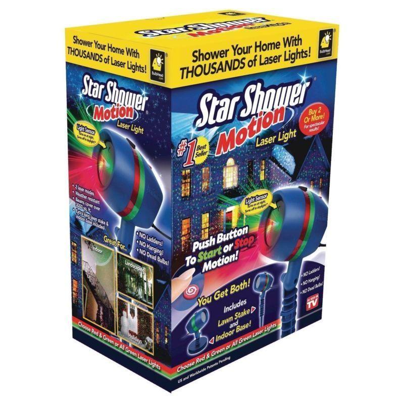 Star Shower Motion Laser Lights, Projector, Indoor Outdoor, Green