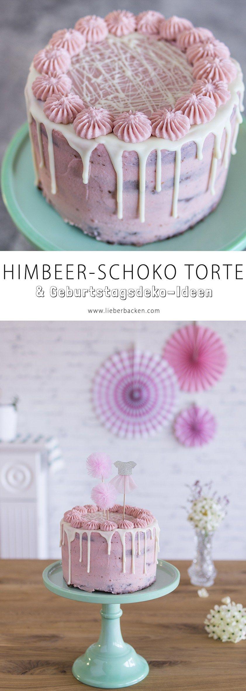 Schoko-Himbeer-Torte #tortegeburtstag