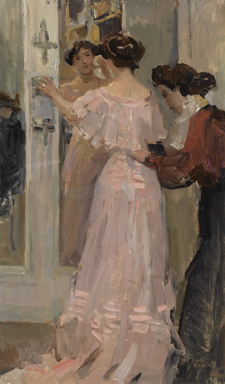 Isaac Israels, IN THE FITTING ROOM OF HIRSCH, AMSTERDAM | Painting,  European paintings, 19th century paintings