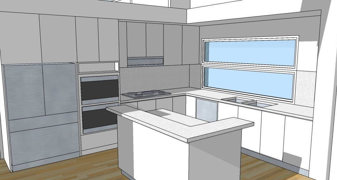 How To Design Kitchen Cabinets In Sketchup - Iwn Kitchen