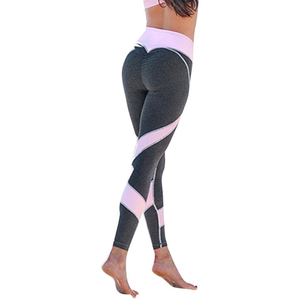 c2eae808fa23d6 Women Skinny Leggings High Waist Elastic Yoga Fitness Sports Heart-shaped  Pants