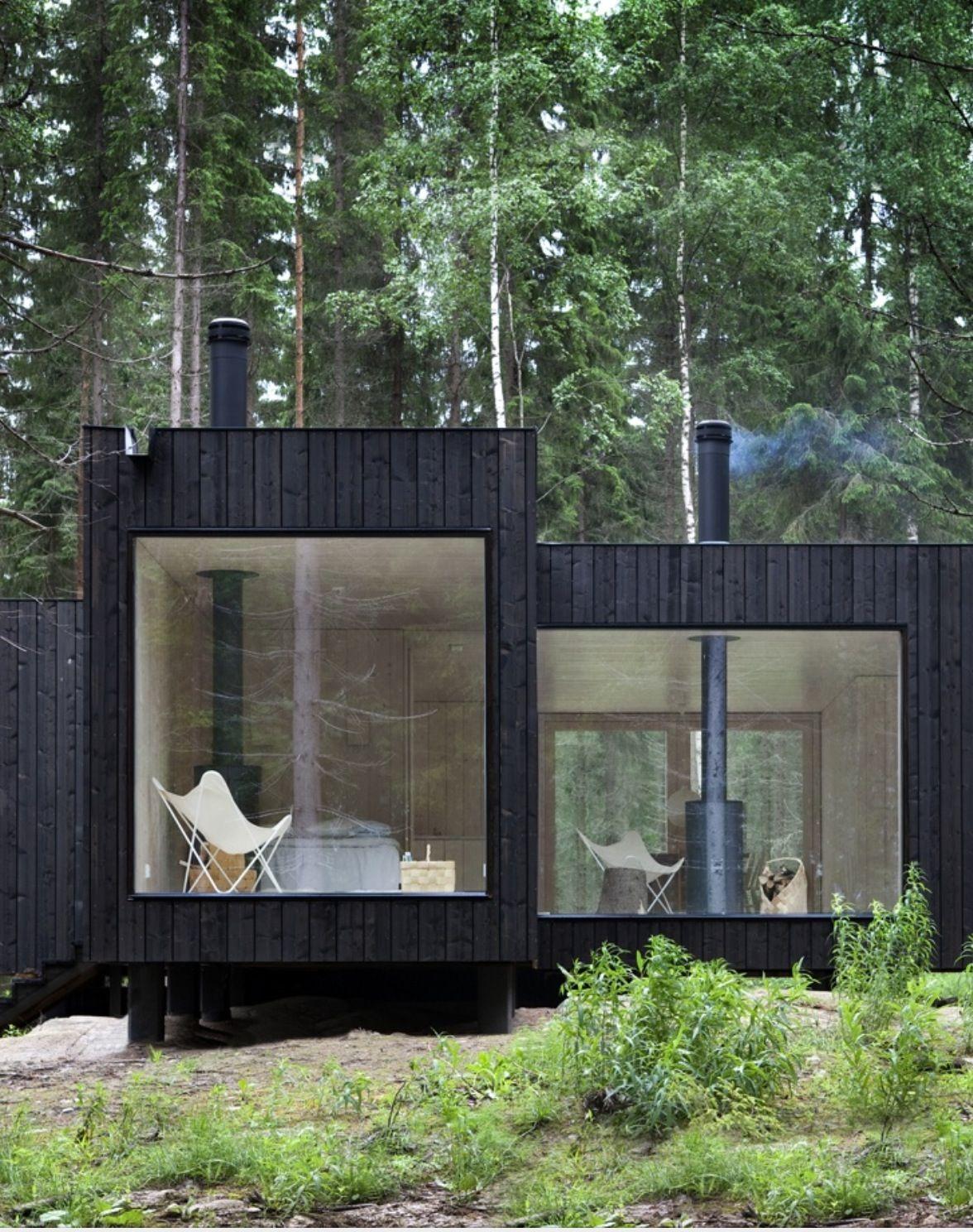 Modern rustic forest cabin h mi hogar pinterest for Modern cabin