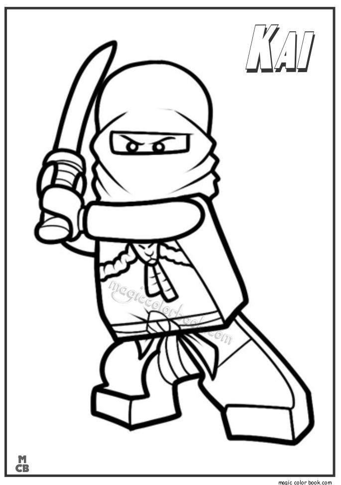 Ninjago Kai Lego Coloring Pages Bilder Zum Ausmalen Kostenlos Ninjago Ausmalbilder Ausmalbilder
