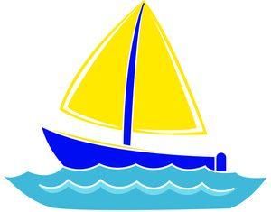 Sailboat Clipart Image Clip Art Illustration Of A Sail Boat