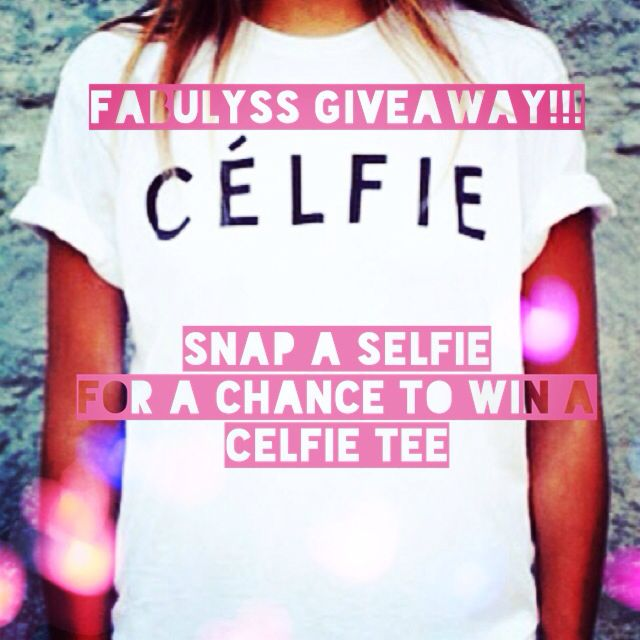 It's #Giveaway #Wednesday! Snap a #Selfie explaining why you're FabuLyss using hashtag #FabuLyss & #Selfie for a chance to win one of our new Celfie #Tees. One lucky winner will be announced on Friday!
