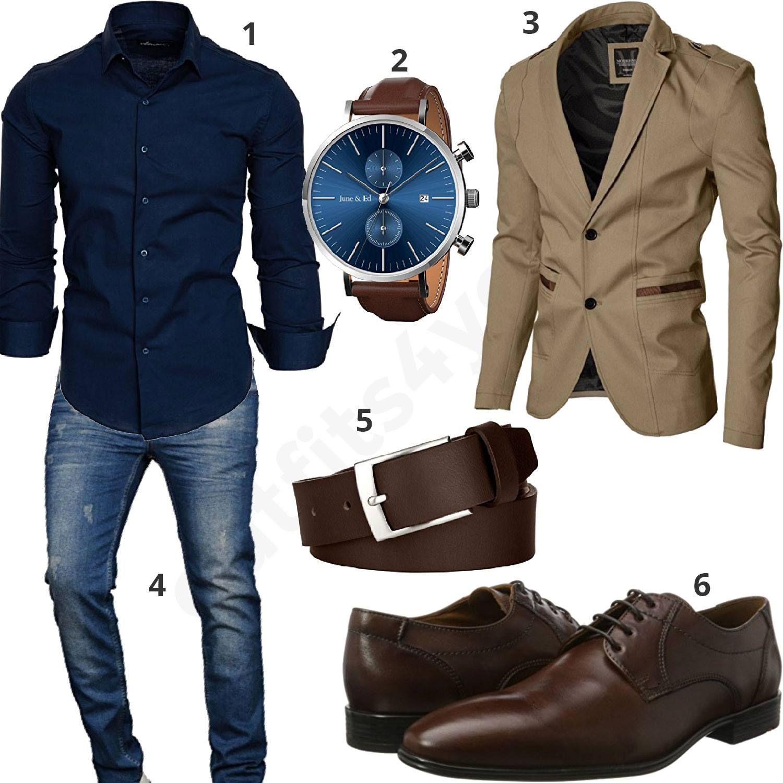 herren style mit hemd sakko und business schuhen outfit. Black Bedroom Furniture Sets. Home Design Ideas