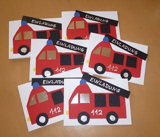 5 Jahre Oder Der Feuerwehrgeburtstag Einladungskarten Kindergeburtstag Kindergeburtstag Jungen Kindergeburtstag