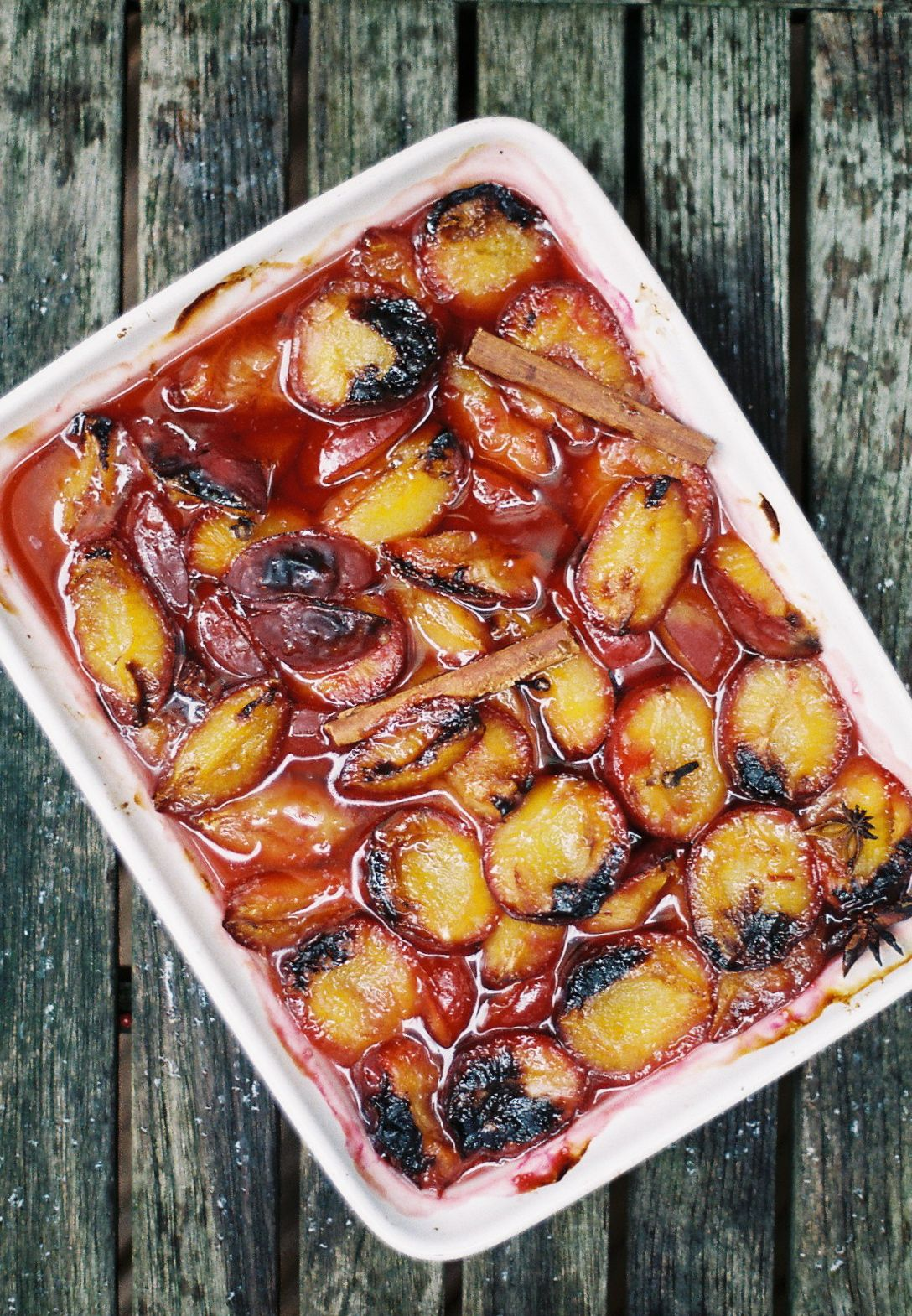 roasted plums for plum whiskey